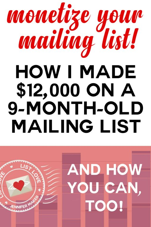 How I Monetized My Mailing Lists | blogging resources | list building