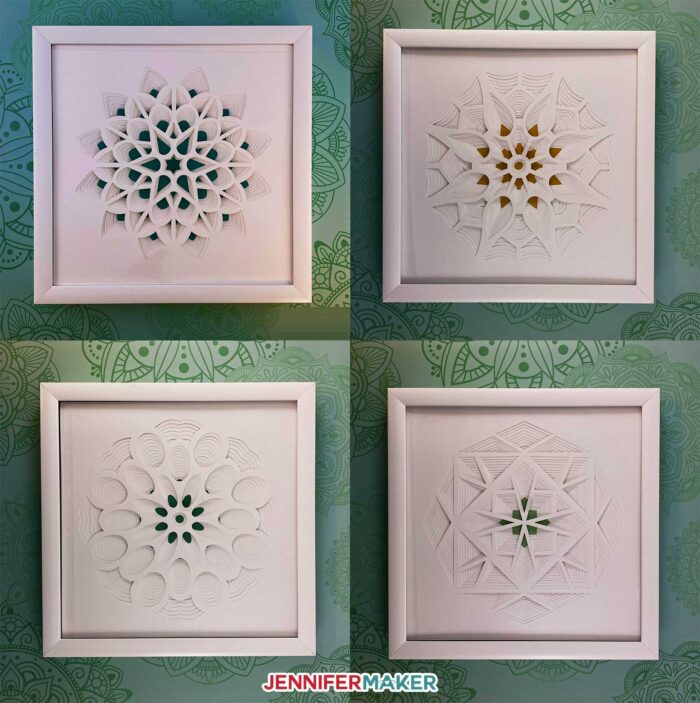 3D layered paper cut design series of four by JenniferMaker