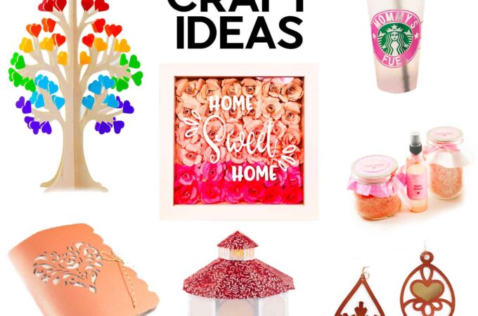 Mother's Day Craft Ideas - 10 Fun and Unique Things You Can Make For Your Mom #crafts #cricut