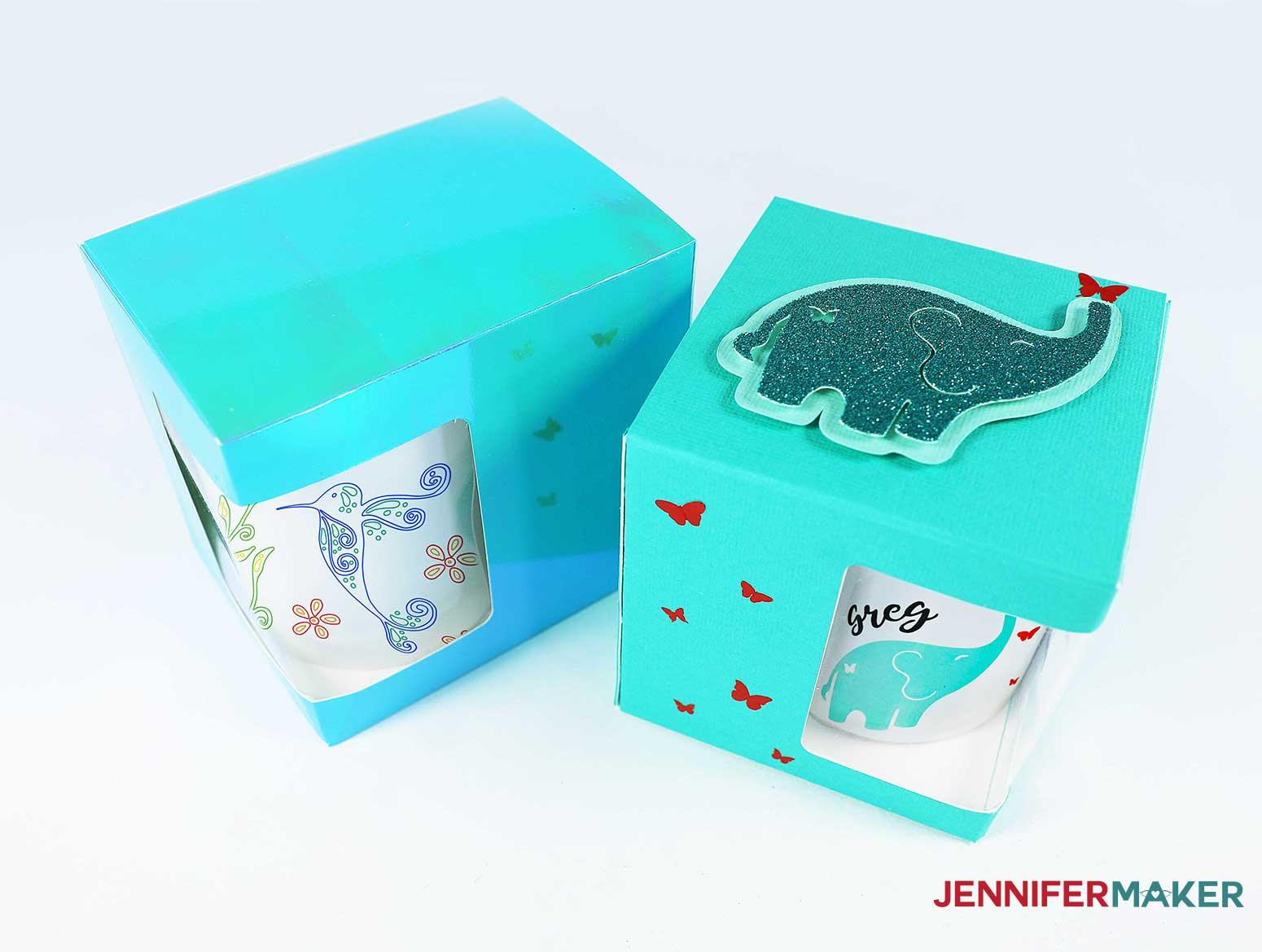 Mug gift boxes - basic window boxes