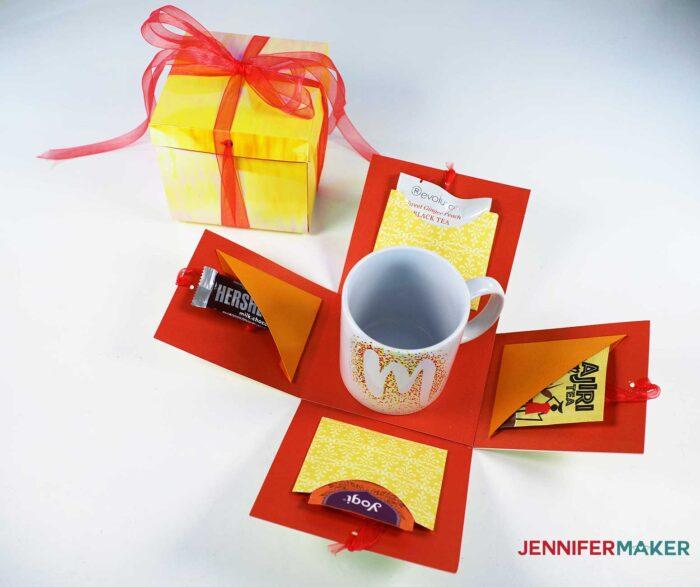 Mug gift boxes - mug explosion boxes