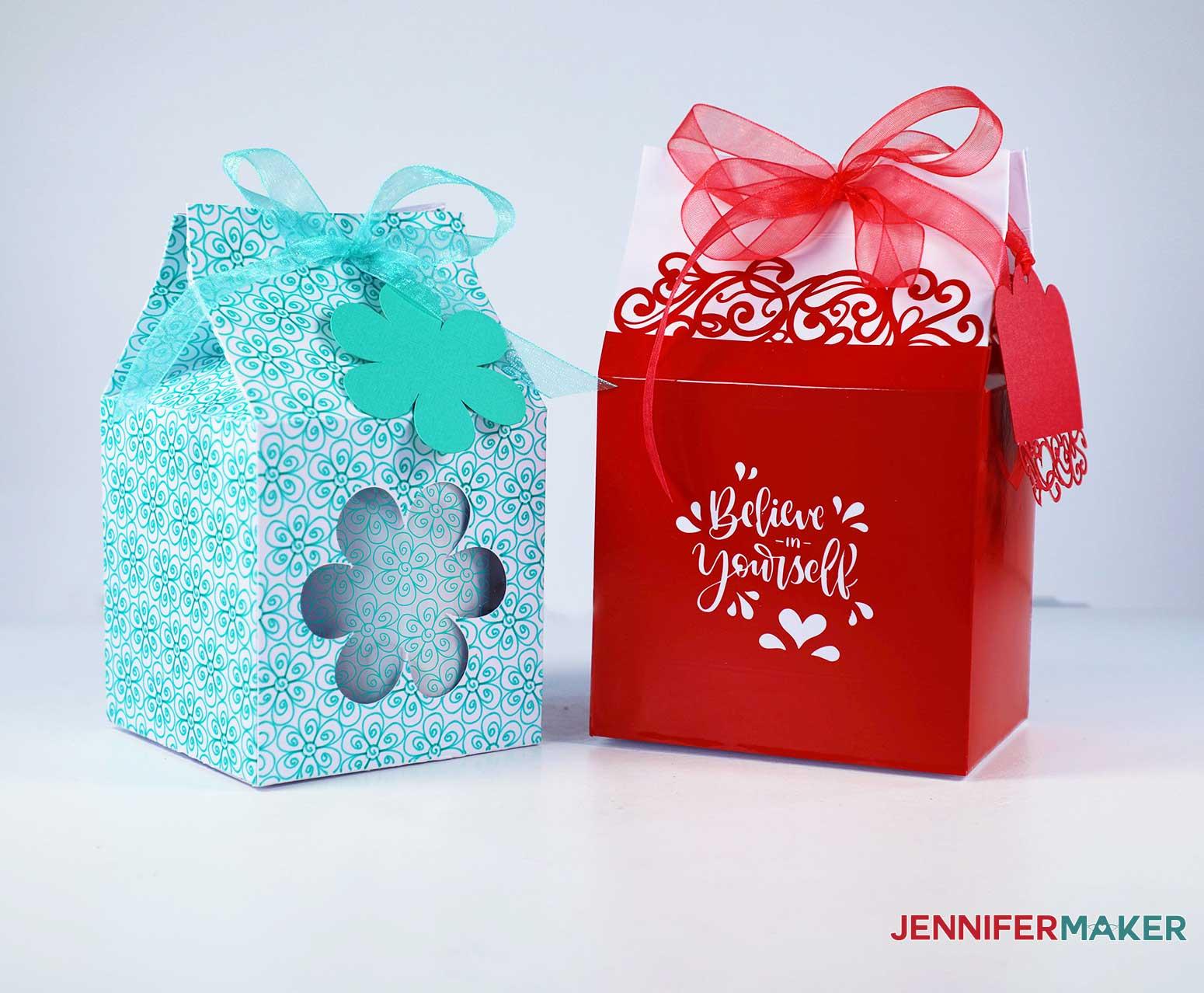 Mug gift boxes - milk carton boxes