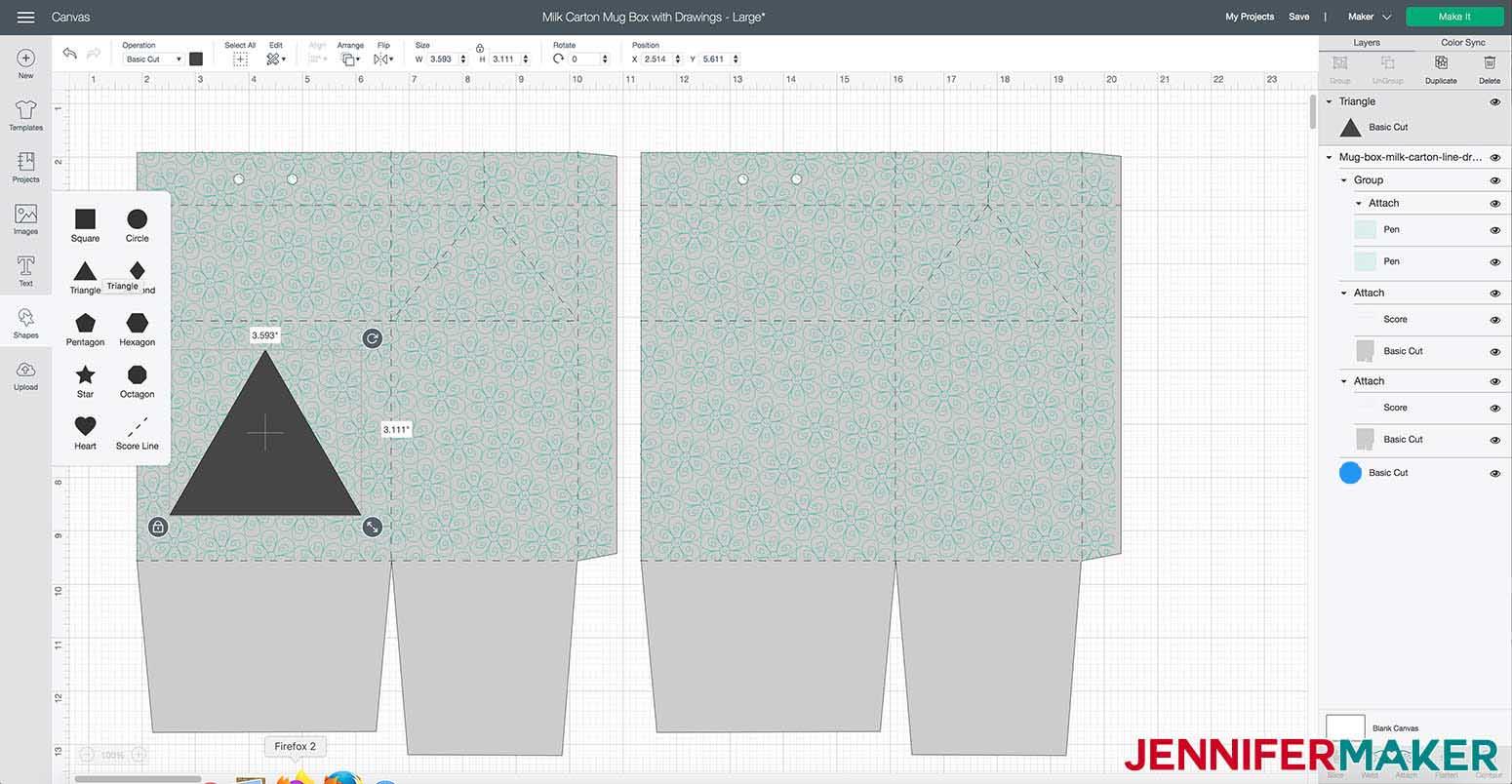 Make custom window for milk carton mug gift boxes
