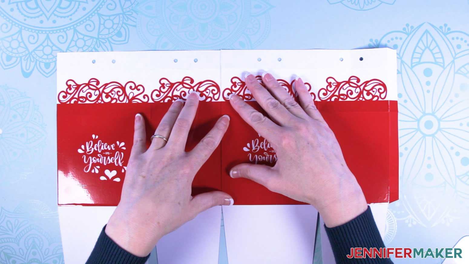 Align the milk carton mug gift box sections