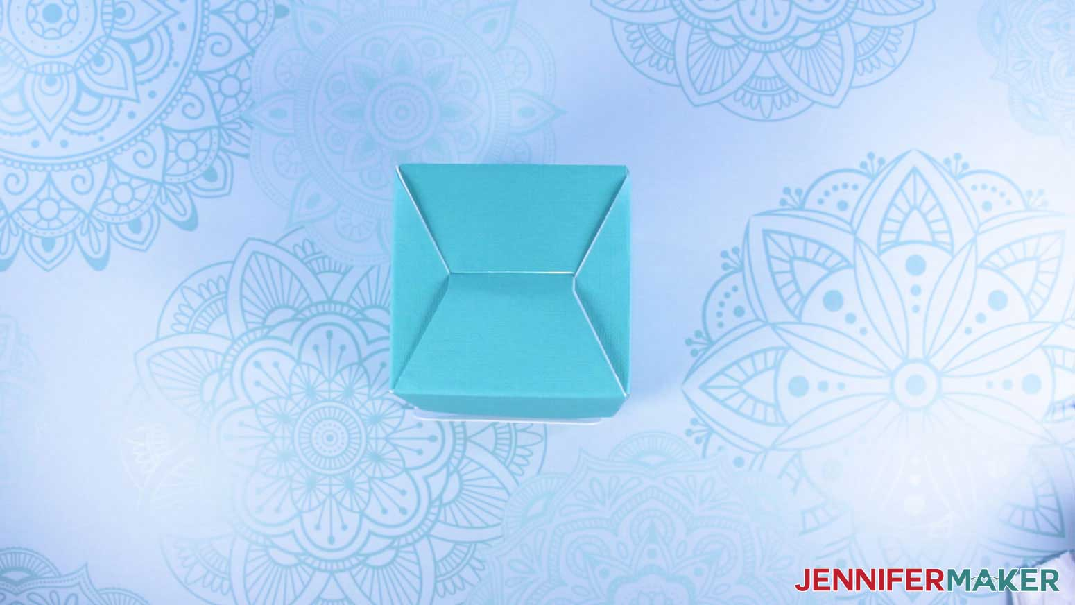 Bottom flaps on outside of mug gift boxes with a window