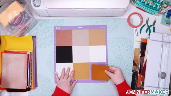 You can put multiple colors on the same mat for faster cutting on your Cricut!