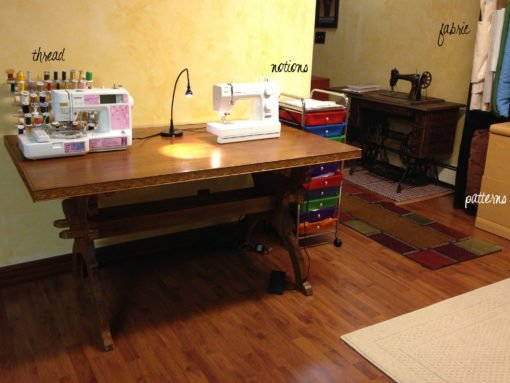 My sewing studio after it was cleaned and organized