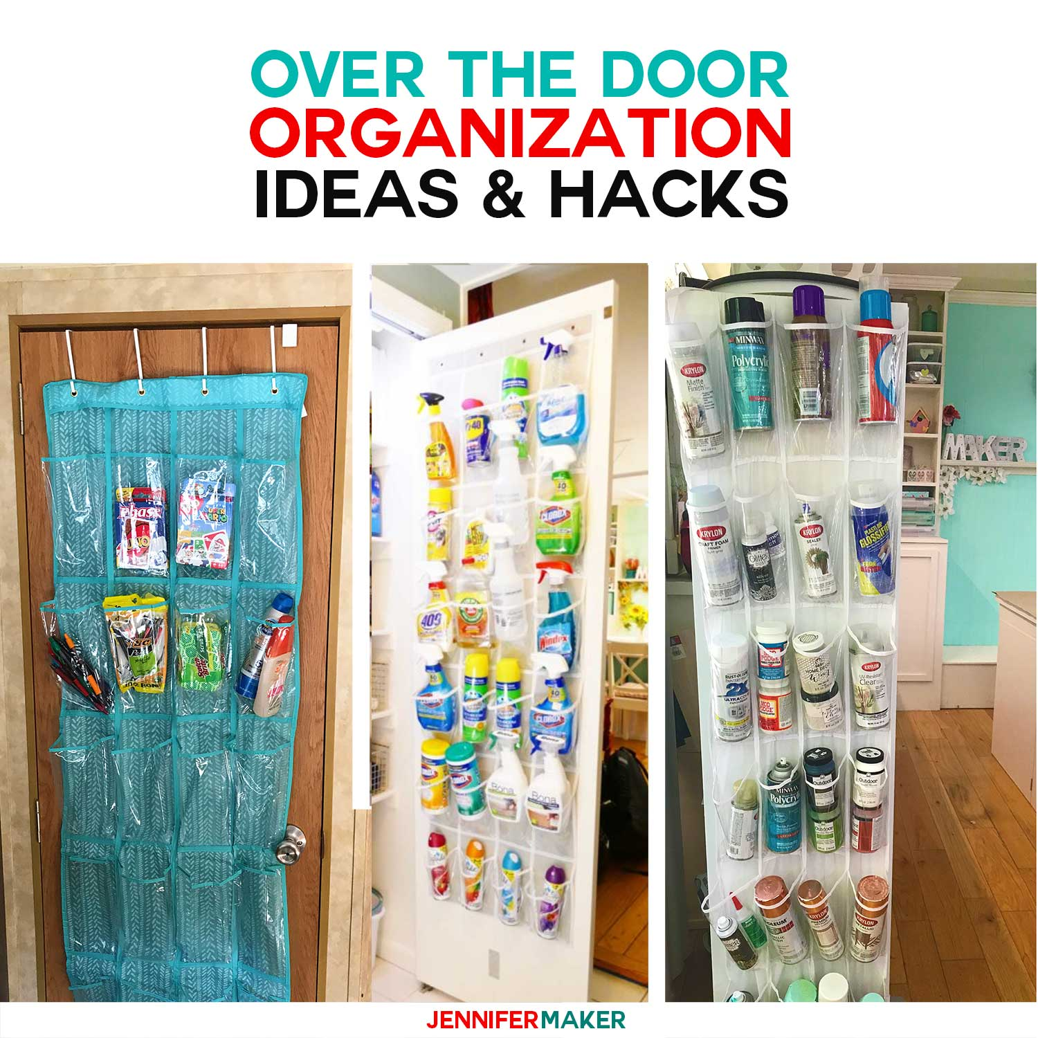 Over the Door Storage Organization Ideas and Hacks - #organization #storagesolutions #storage