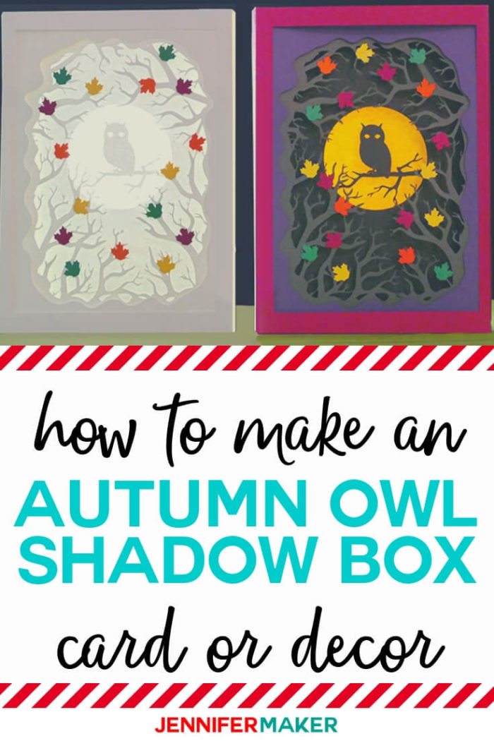 Learn how to make an autumn old shadow box. This design can be used for both home decor or a flat card! #cricut #cricutmade #cricutmaker #cricutexplore #svg #svgfile