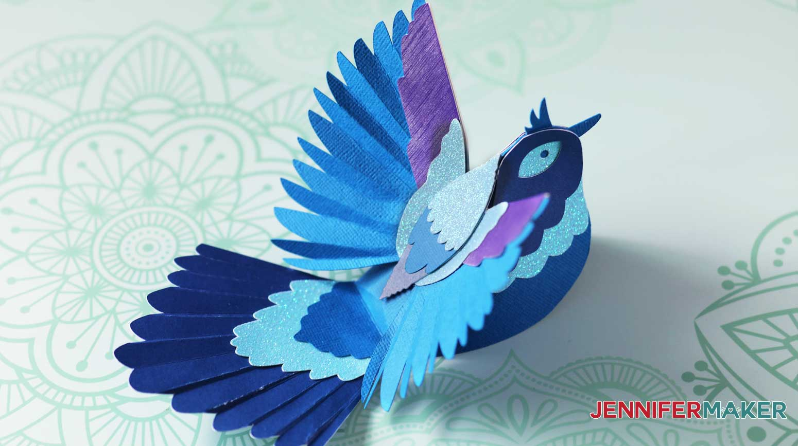 Assembled paper bird by JenniferMaker