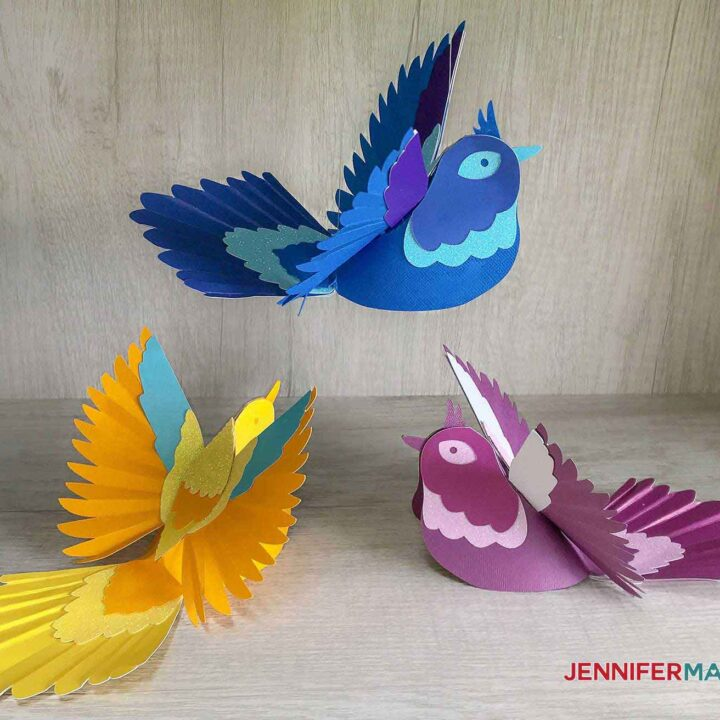 Flock of paper birds by JenniferMaker