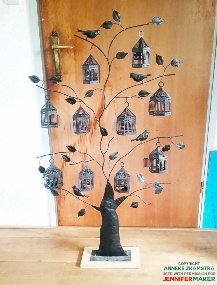 Paper birdcage tree by reader Anneke Z