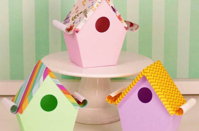 Paper Birdhouse Lantern with a Hidden Surprise Inside | Free tutorial and SVG files | #papercraft #birdhouse #cricut