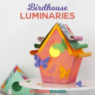 Make paper birdhouse template patterns | birdhouse craft | #birdhouse #papercraft #cricut