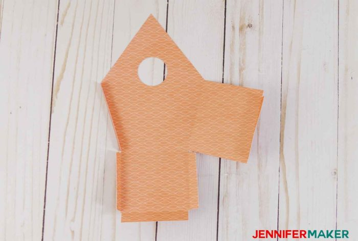 Folding the paper birdhouse template patterns | birdhouse craft | #birdhouse #papercraft #cricut
