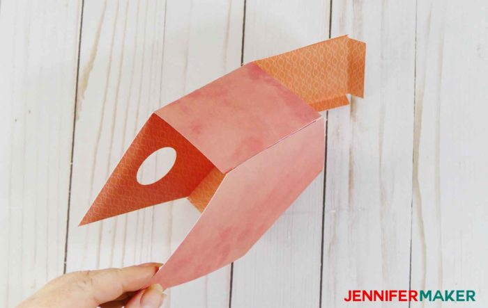 Gluing the side of the paper birdhouse template patterns | birdhouse craft |