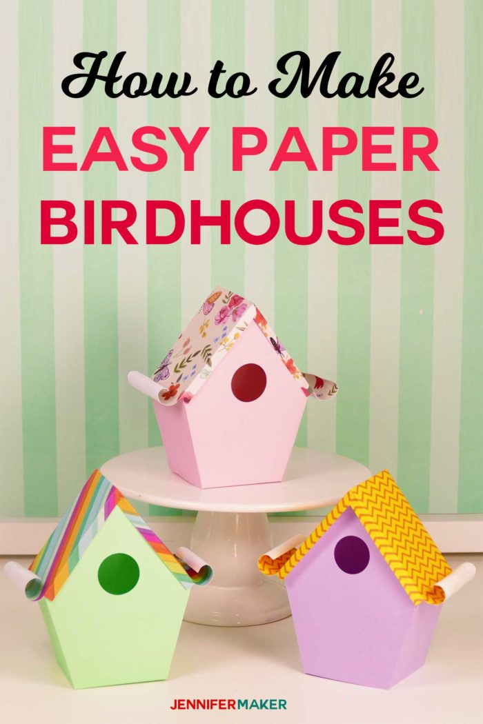 Paper birdhouse template patterns | birdhouse craft | #birdhouse #papercraft #cricut