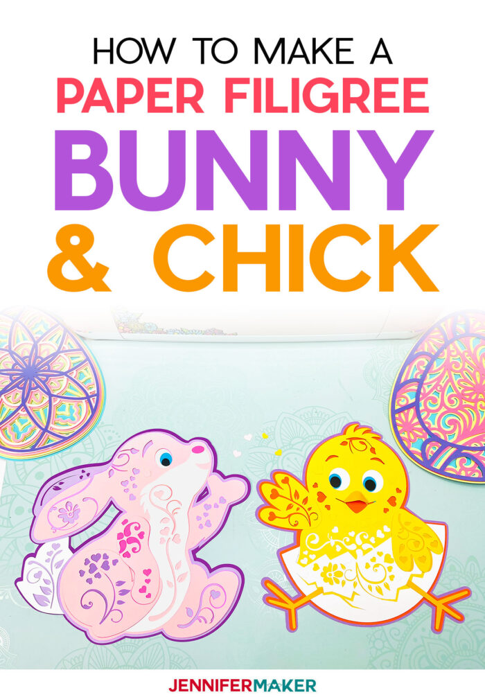 Paper Bunny & Chick 3D Layered Filigree - Free SVG Cut File for Cricut and Silhouette