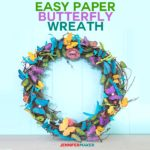 Paper Butterfly Wreath Tutorial - Easy & Pretty Home Decor for Spring and Summer #cricut #cricutmade #papercraft #butterfly