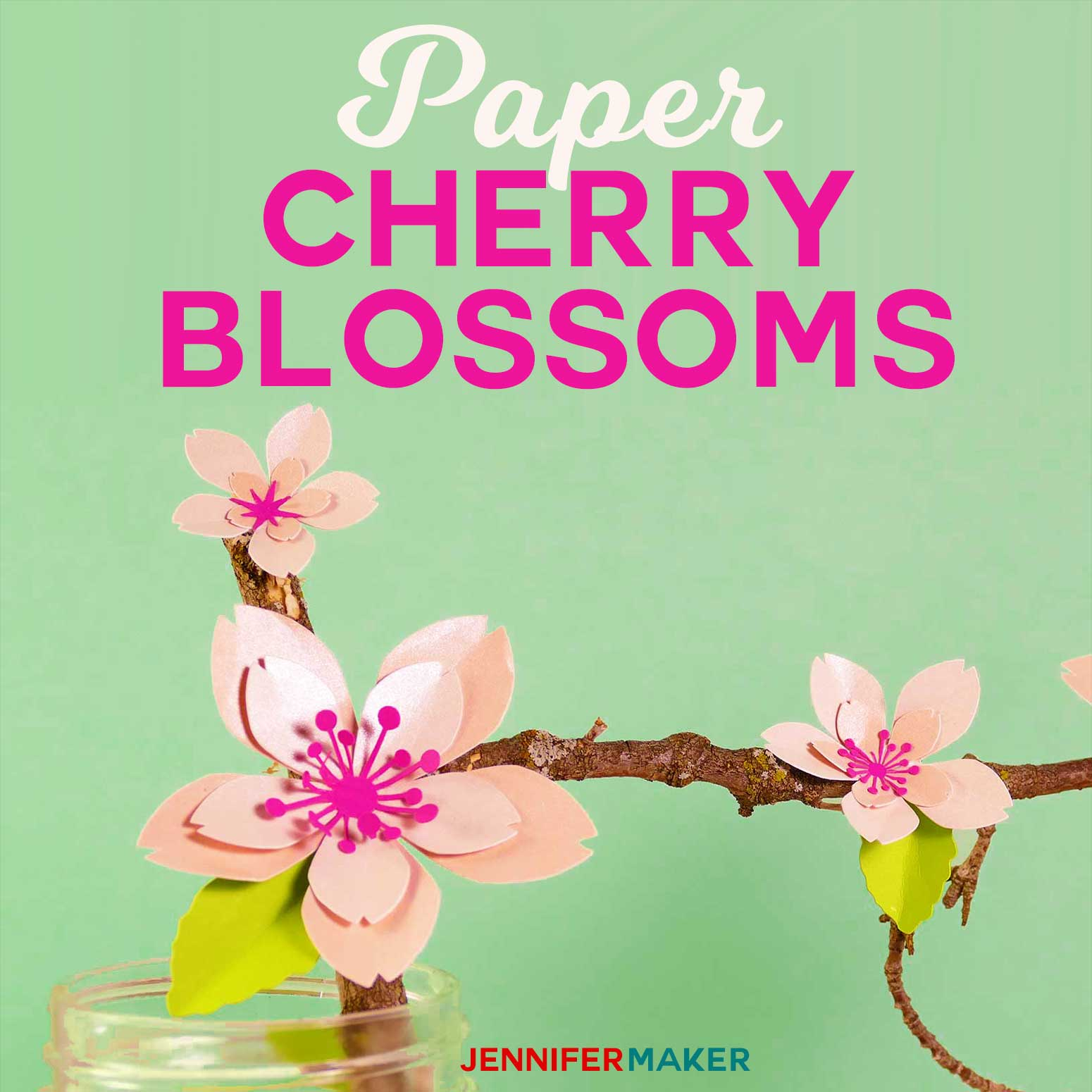 How To Make Paper Cherry Blossom Flowers With A Free Pattern And Tutorial Papercraft