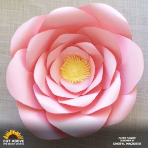 Paper Flower Designed by Cheryl Mazurek in the CUT ABOVE SVG Design Course at JenniferMaker.com