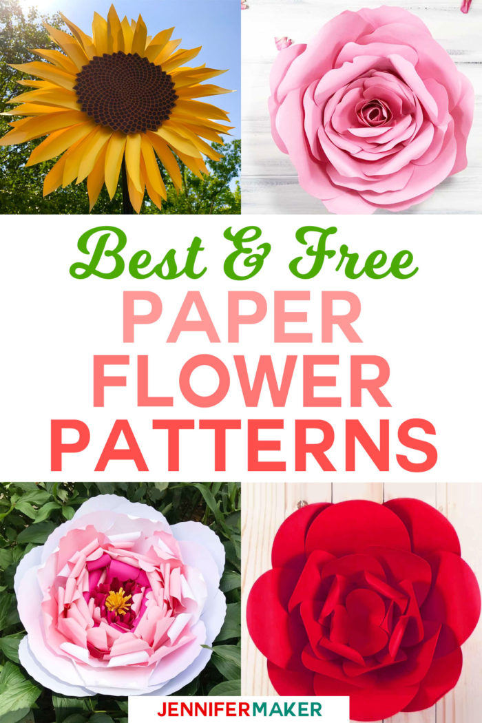 Paper Flowers DIY - How to Make Giant Paper Flowers for Weddings, Nurseries, Backdrops, and Home Decor | Easy Tutorials, Patterns, Templates, and Designs | #paperflowers #papercraft