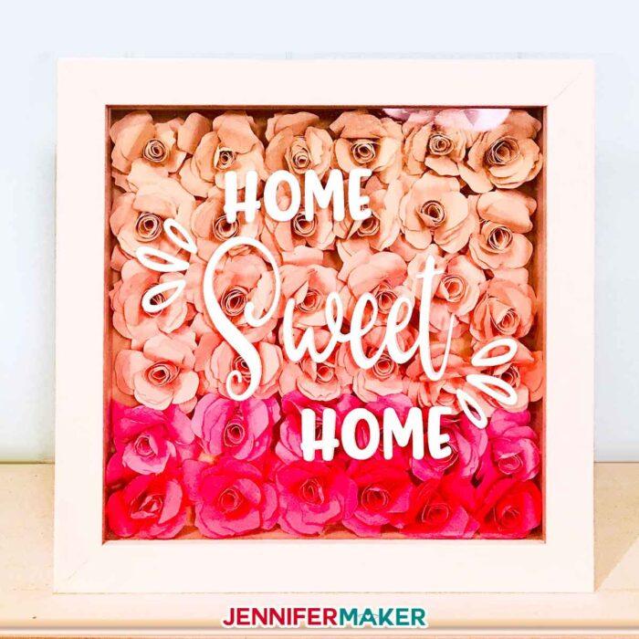 Paper Flower Shadow Box With Sizing Quantity Charts Jennifer Maker