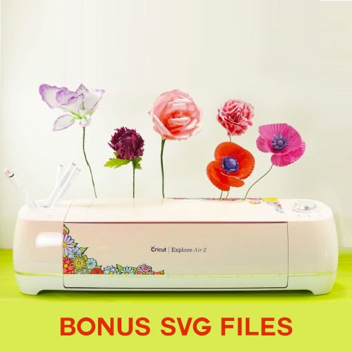 Free SVG cut files for the Paper Flowers Book