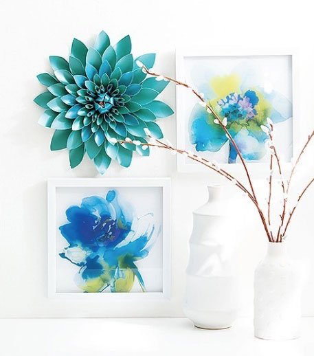 Paper Flower Wall Decor Project in the DIY Paper Flowers Book