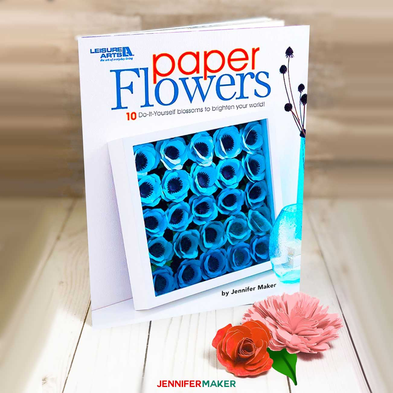 Diy paper flowers book now blooming on bookshelves jennifer maker diy paper flowers book by jennifer maker 10 flowers you can make mightylinksfo