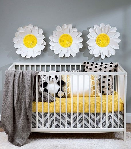 Paper Flower Nursery Decor Project in the DIY Paper Flowers Book