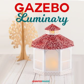Make a Pretty Paper Gazebo Luminary for Mother's Day, Wedding Parties, and Valentine's Day