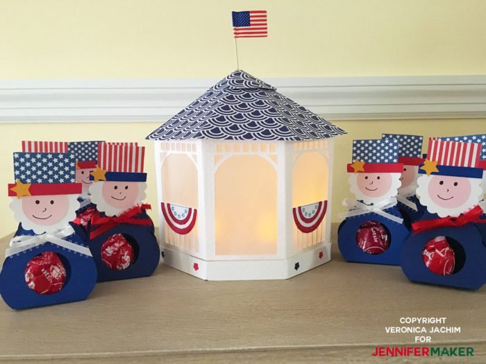 Patriotic Paper Gazebo by reader Veronica Jachim