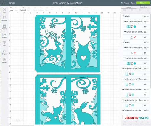 Uploading the winter paper lantern luminary to Cricut Design Space