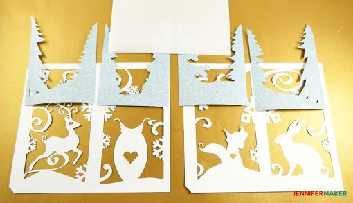 Materials to make the Winter Paper Lantern and Luminary