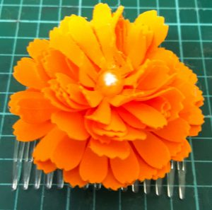 Paper Marigold made by June Langley