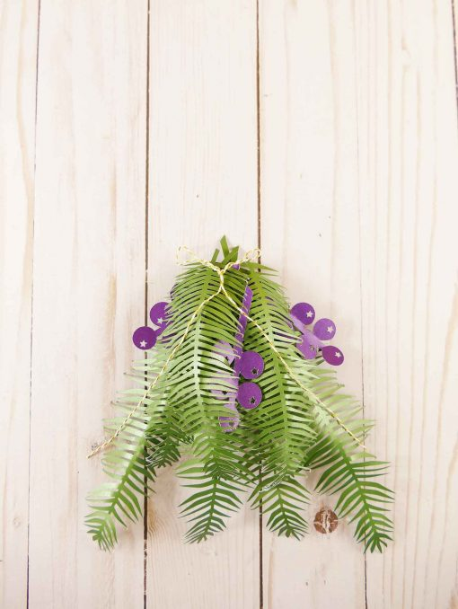 How to make a paper pine branch   juniper   paper flowers