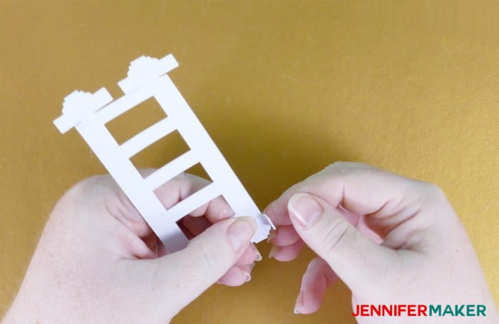 Fold the top to make Paper Rose Arbor Luminary