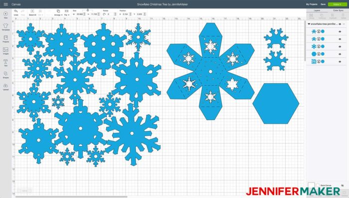 Uploading the Paper Snowflake Christmas Tree luminary pattern into Cricut Design Space