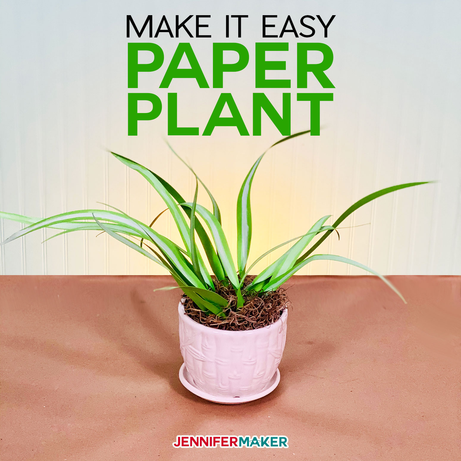 Easy Paper Spider Plant - Free SVG File and Pattern to Make Your Own #cricut #svgcutfile