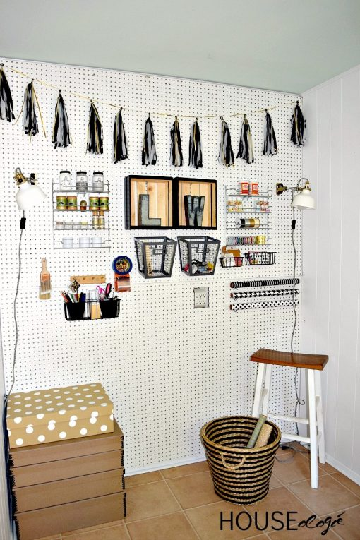 You NEED a pegboard in your craft room! This is the ultimate guide to pegboards, filled with #organization ideas, #storage tricks, and craft room decor tips. #craftroom #diydecor