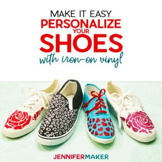 Personalize Your Shoes with Iron-On Vinyl or HTV - Free SVG Cut File for your Cricut #cricut #personalize #shoes