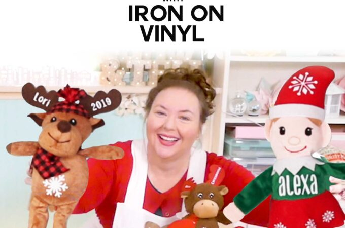 How to Personalize Elves and Stuffed Animals with Iron On Vinyl with a Cricut EasyPress Mini