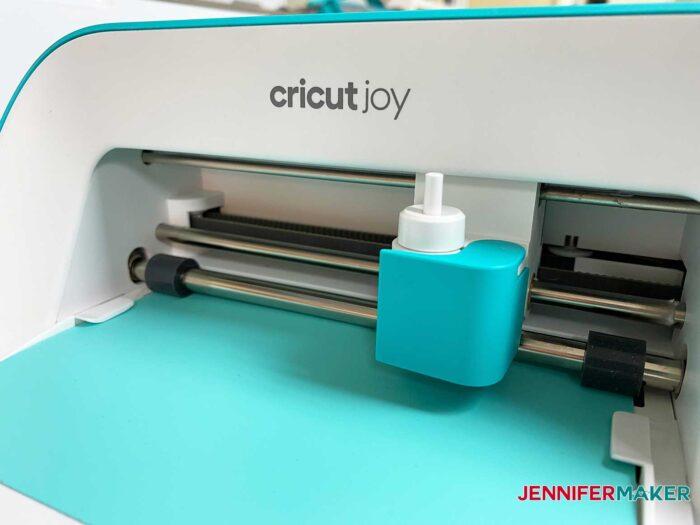 Cricut Joy cutting my personalized sweatpants design