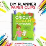 DIY Planner Paper Clips made with Holographic Kraft Board on a Cricut in Cute Animal Shapes - Free SVG Cut FIle