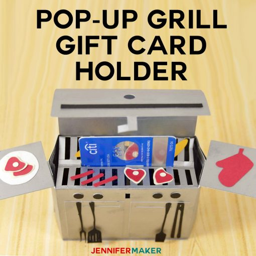 Pop-Up Grill Gift Card Holder | Papercraft tutorial