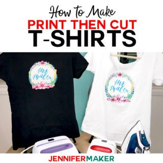 Print Then Cut Cricut Transfer T-Shirt Tutorial - How to Use Printable Iron-On Transfers the RIGHT Way #cricut #cricutmade #tshirt #easypress #designspace