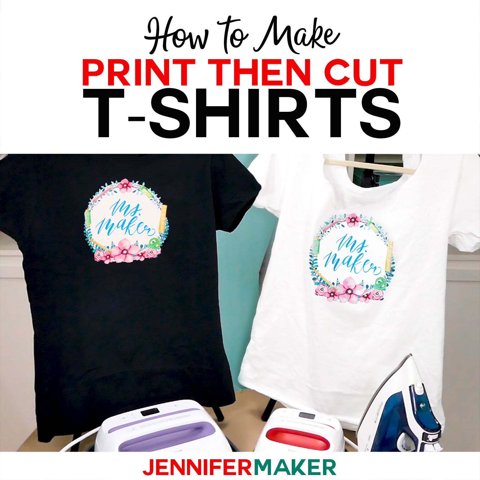 photo about Printable Iron on Transfer called Print Then Reduce Cricut Move T-Shirts - Jennifer Producer