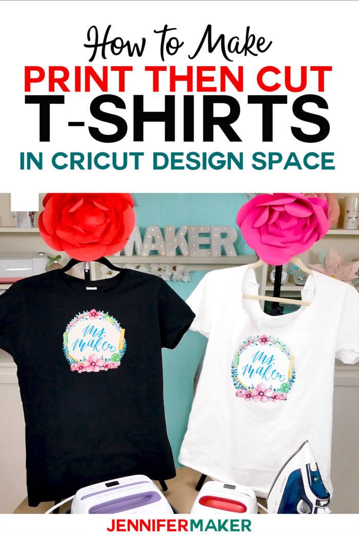 Print Then Cut Cricut Transfer T Shirts