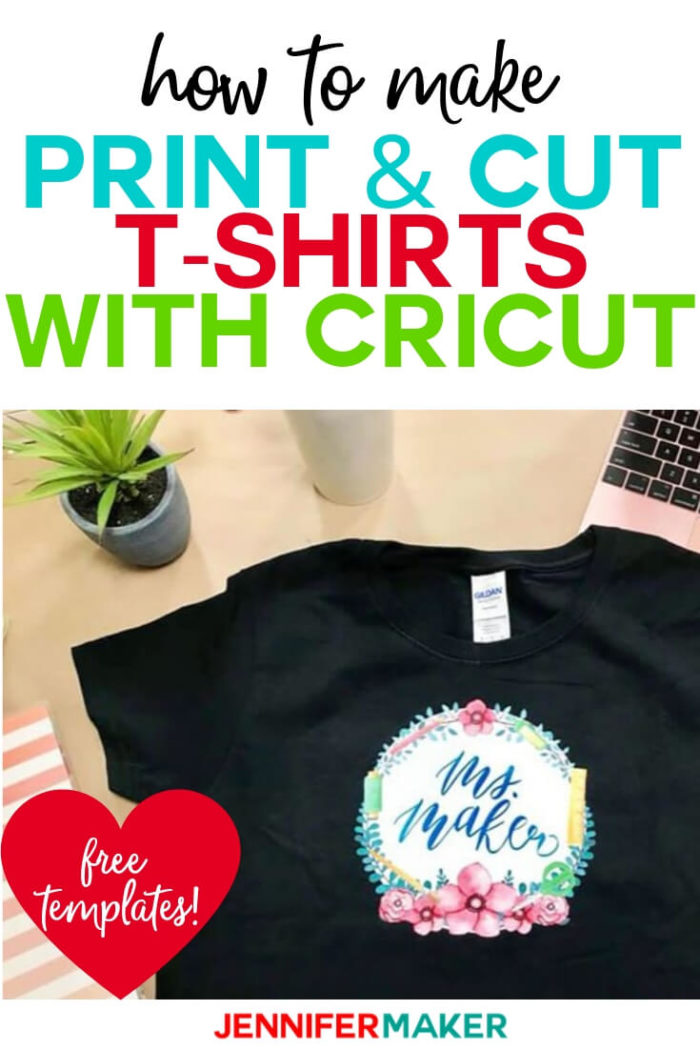 Learn how to use Print Then Cut in Cricut Design Space to make fun projects like this iron-on transfer T-shirt! #cricut #cricutmade #cricutmaker #cricutexplore #svg #svgfile